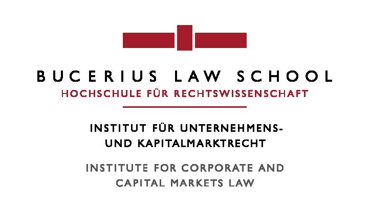 Logo: Bucerius Law School – Hochschule für Rechtswissenschaft, Institut für Unternehmens- und Kapitalmarktrecht – Institute for Corporate and Capital Markets Law